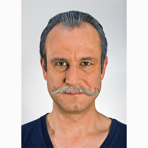 Lace Backed Real Hair Handlebar Moustache