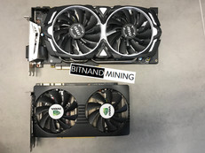 NVIDIA P104-100 vs GeForce GTX 1070 Size Comparison