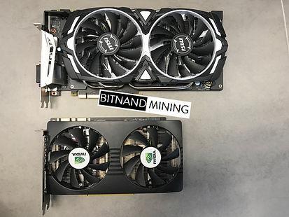 MSI GeForce GTX 1070 8G ARMOR OC vs Nvidia P104-100 GPU mining accelerator card. Great fo Ethereum ETH mining. Fastest performane GPU for mining