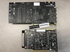 NVIDIA P104-100 vs GeForce GTX 1070 Size Comparison