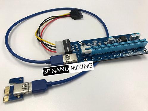 Mintcell Blue PCI-e Riser Card