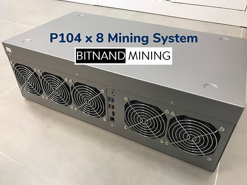 NVIDIA P104 x 8 Complete Mining System