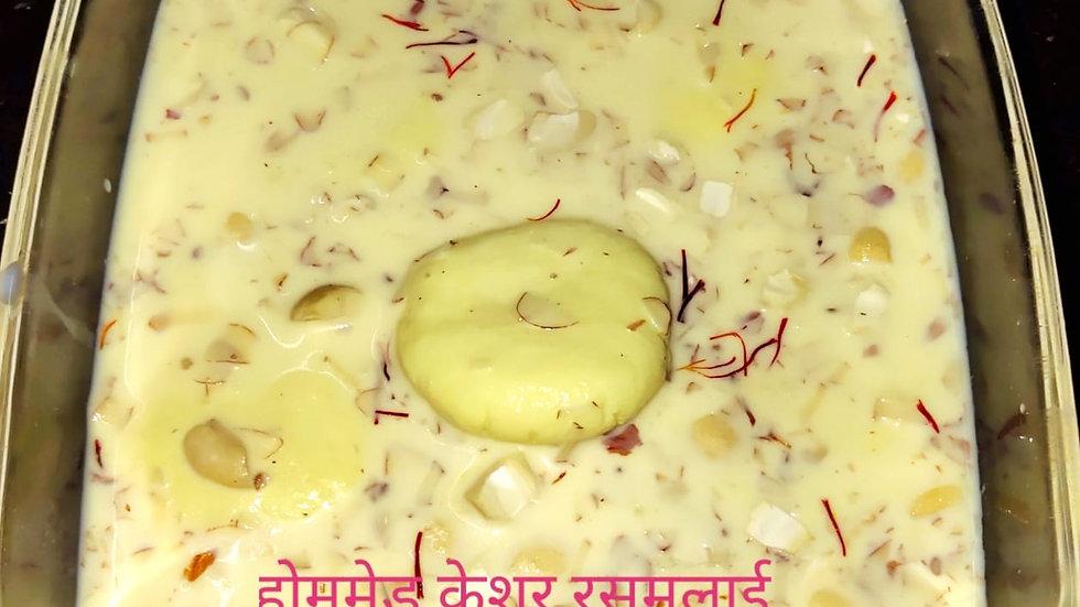Home made Keshar rasmalai