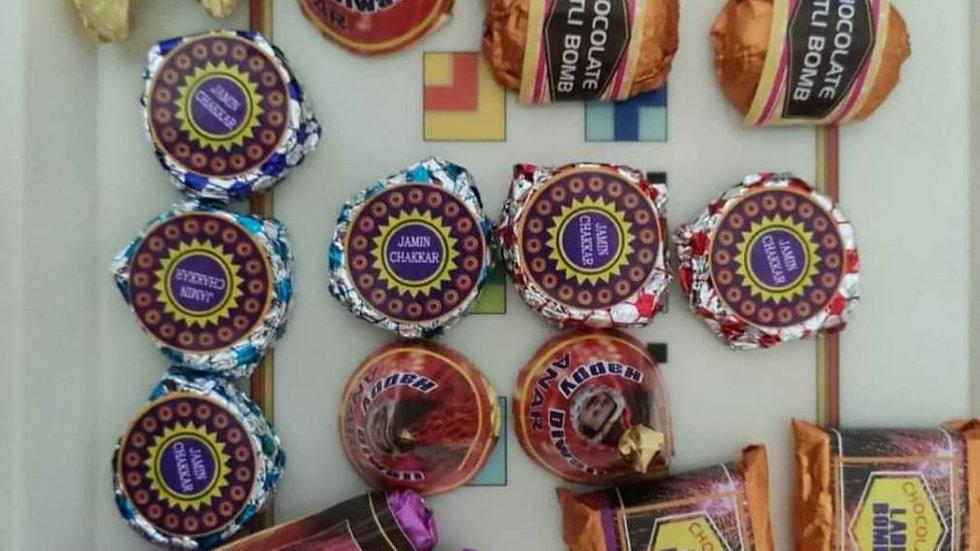 Home made Chocolate Diwali Cracker Box ( 21 Peice )