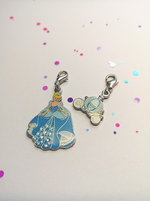 Cinders and Carriage Charm set