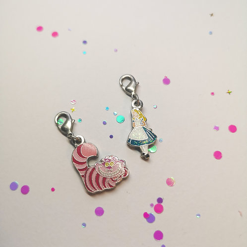 Alice and the Cheshire Cat Charm