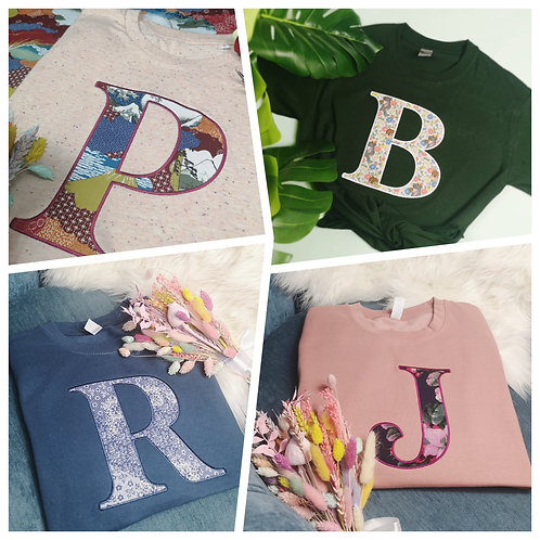 Customisable Letter Tee or Sweat