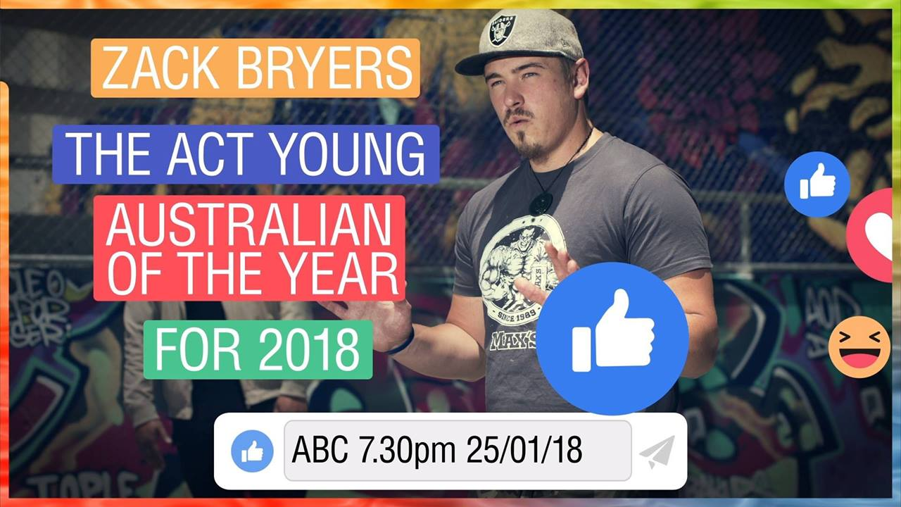 Zack Bryers - 2018 ACT Young Australian of the Year