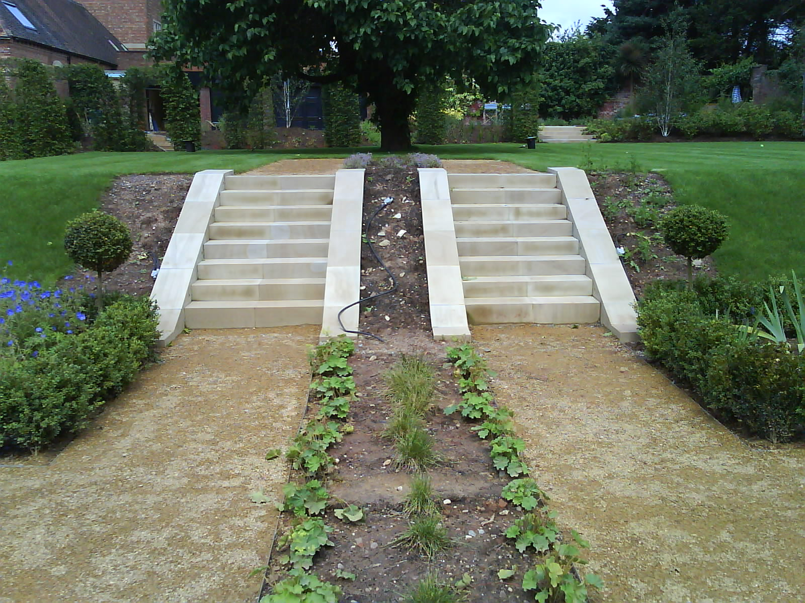 Set of Sandstone Steps with Edging