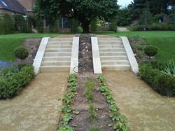 Set of Sandstone Steps with Edging