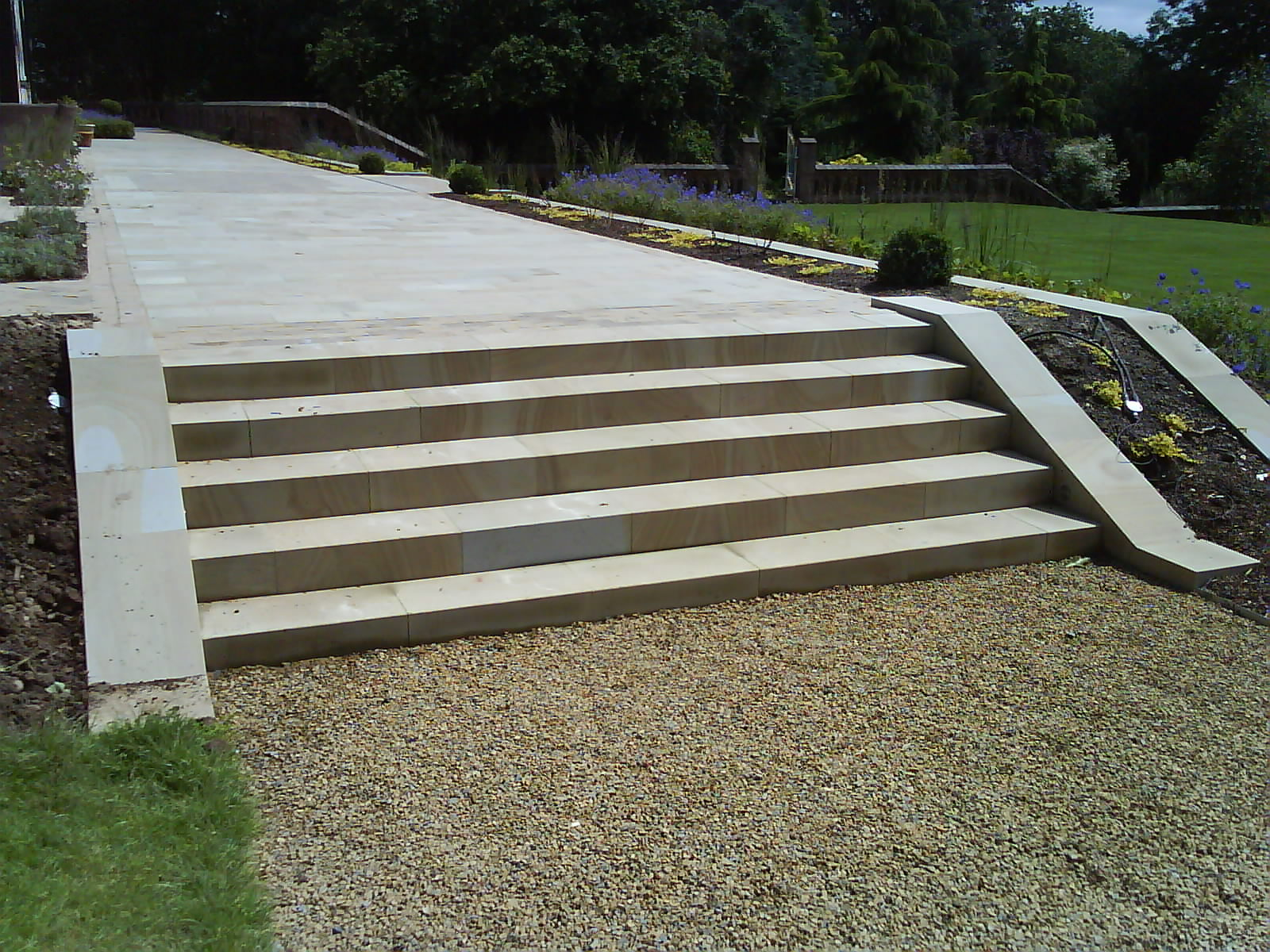 Terraced Sandstone Steps