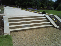 Terraced Sandstone Steps
