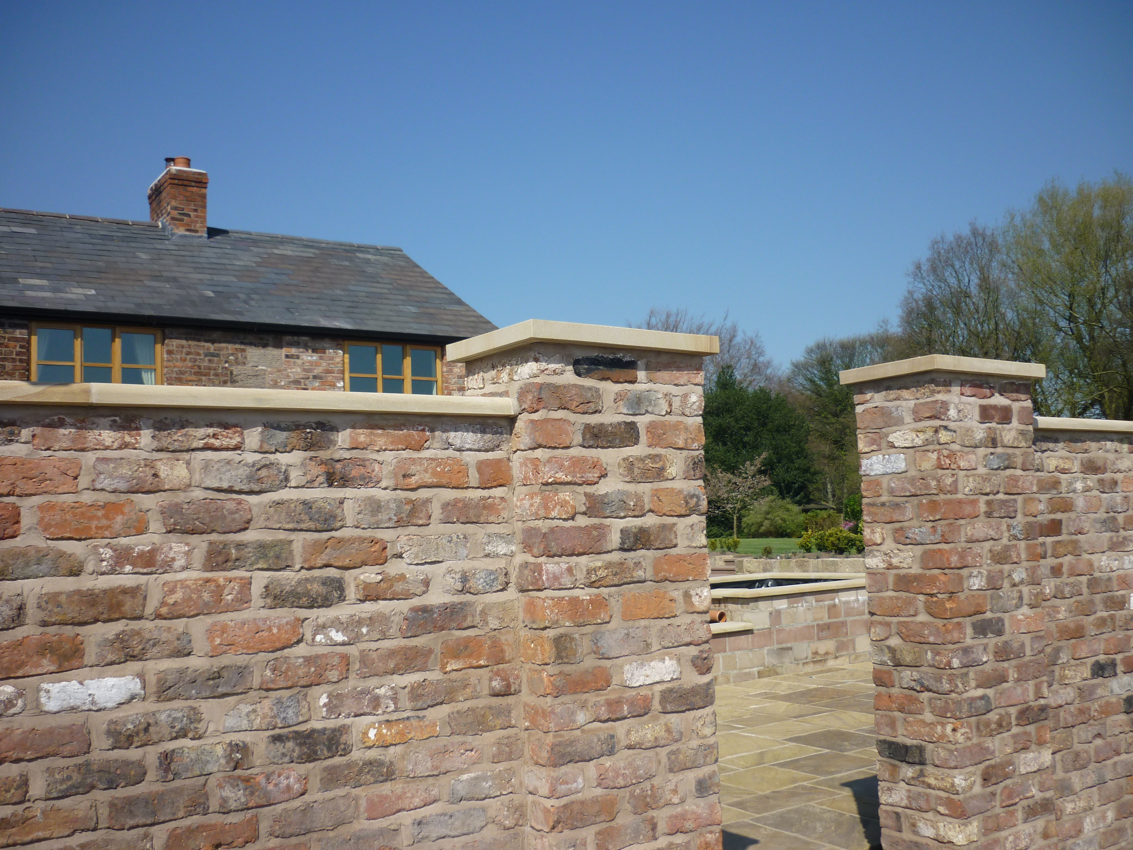 Yorkstone copings and caps