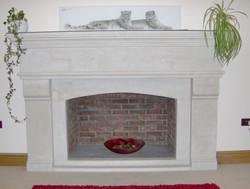 Large Bespoke Limestone Fireplace