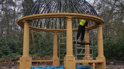 Fixing the Steel Dome to the Temple