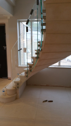 Post-tension Curved Staircase