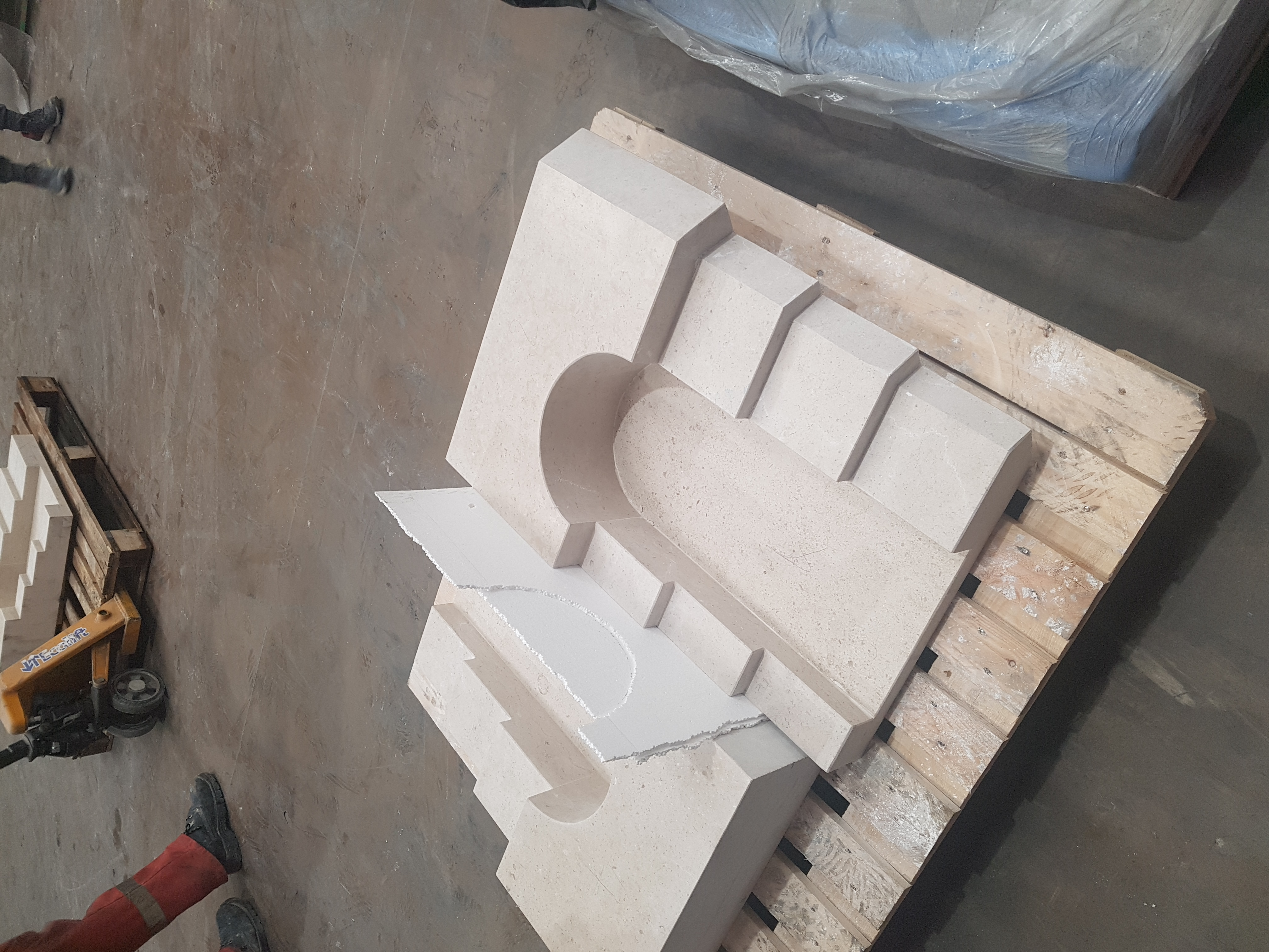Carved Arched Tower Corners