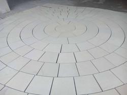 Clean Yorkstone Circle