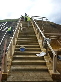 Sandstone Plinth Edging to Steps