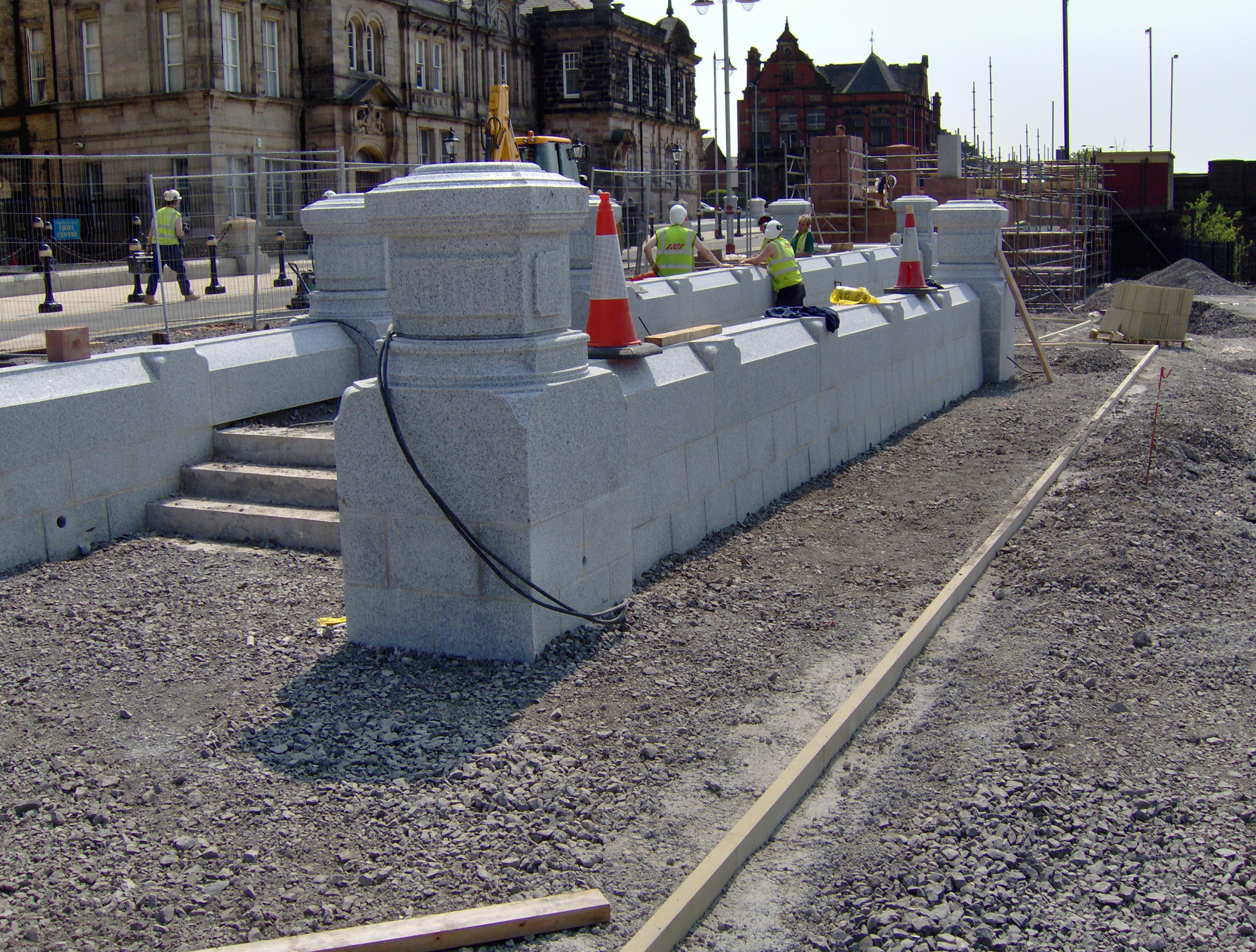 Granite Bollards & Plinth
