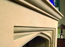 Angled View of Bespoke Fireplace