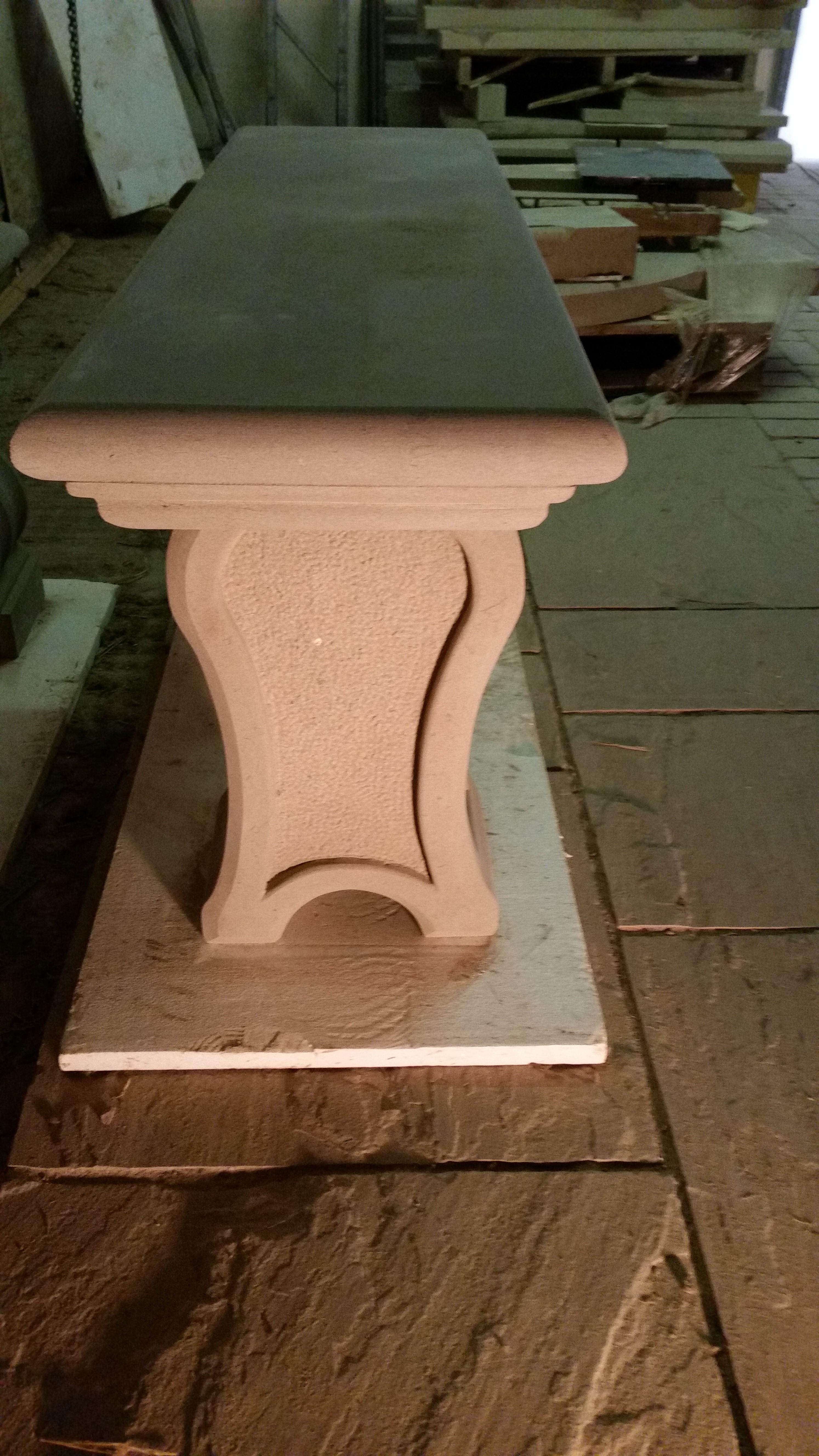 Moulded Sandstone Bench