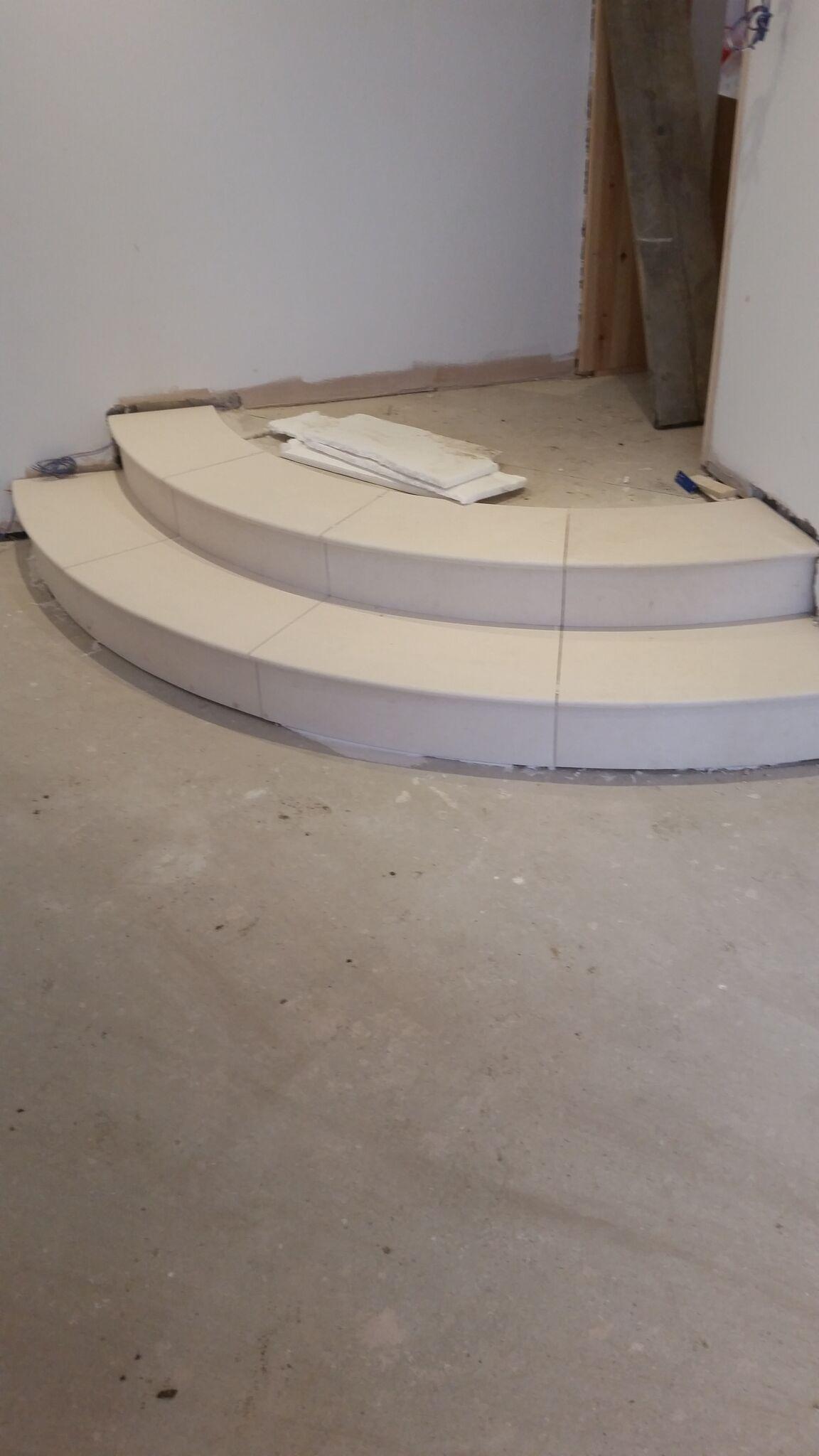 Limestone Circular Steps