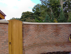 Curved Garden Wall Copings