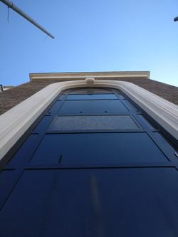 Large Arched Limestone Window