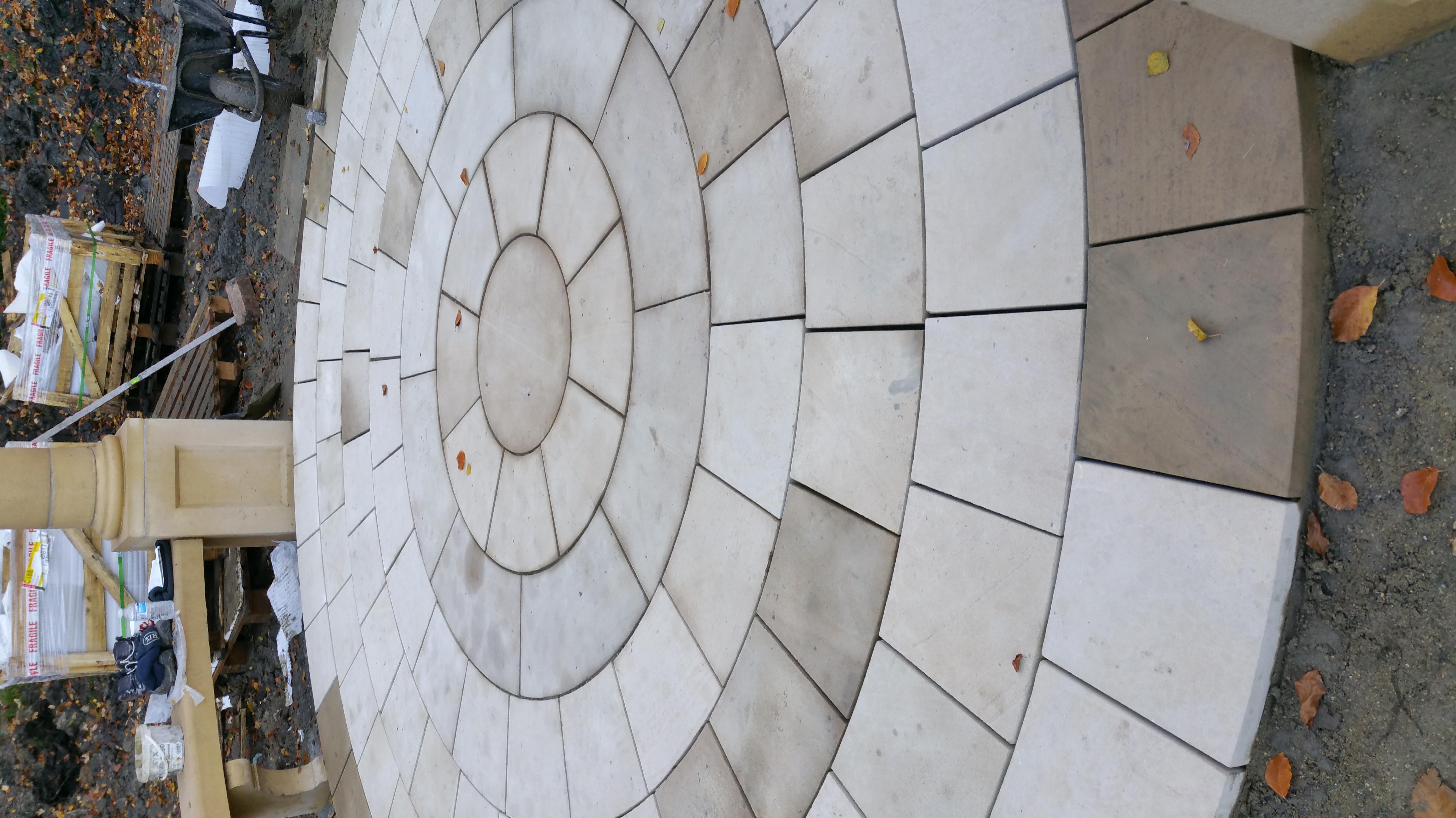 Sandstone Circular Paving