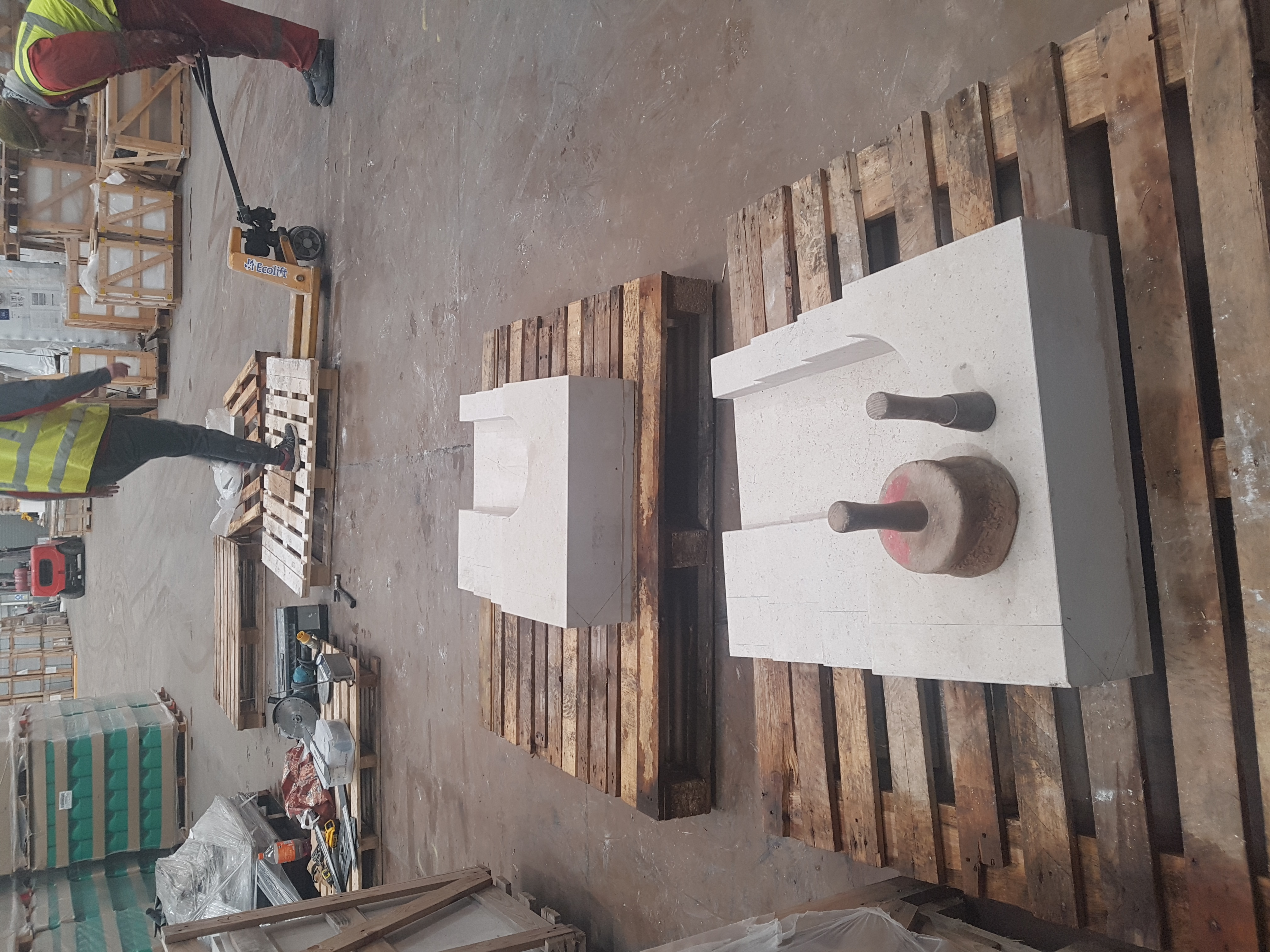 Oversized Arch Stones to be Carved