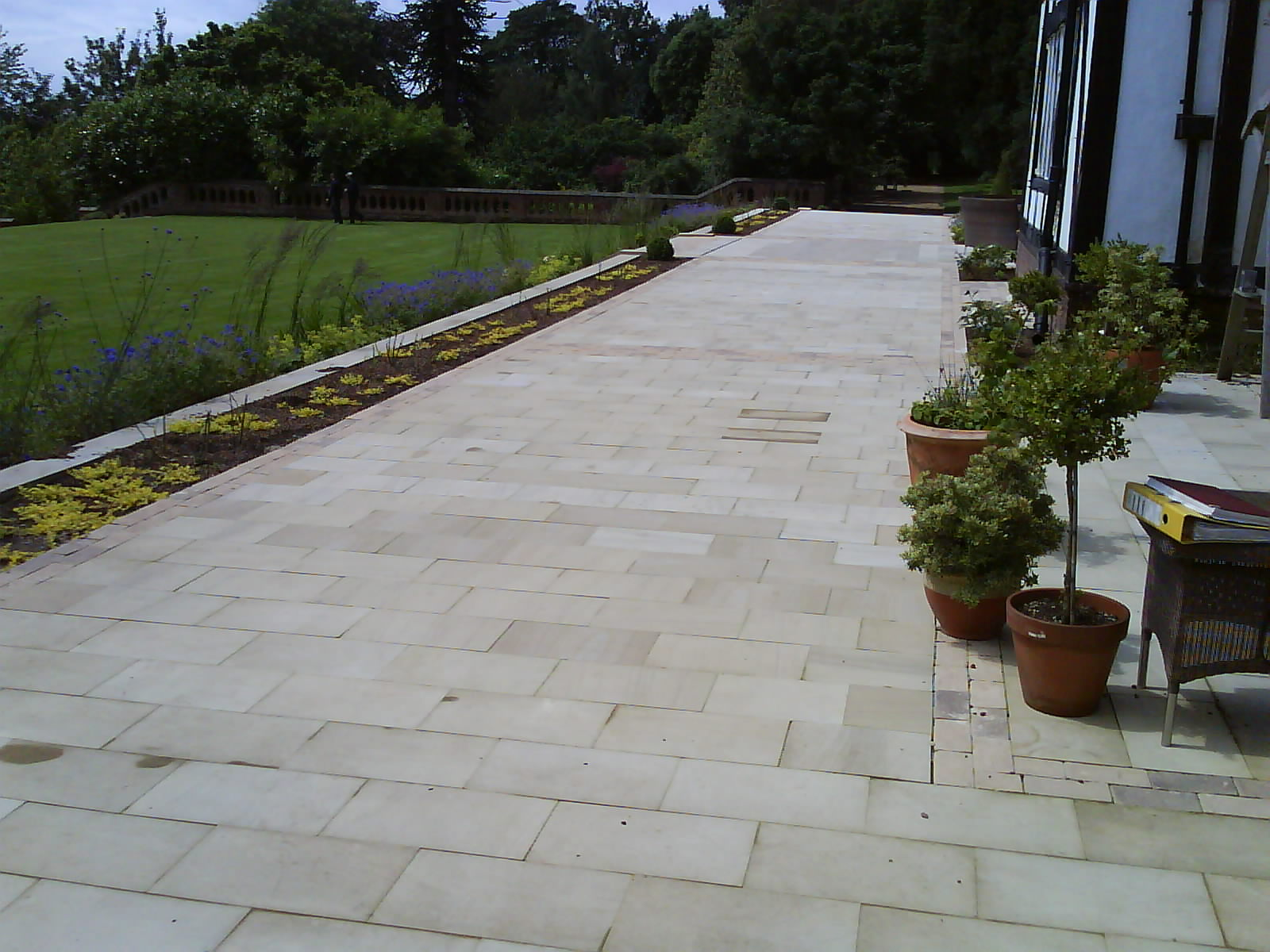 Clean Yorkstone Terrace Paving