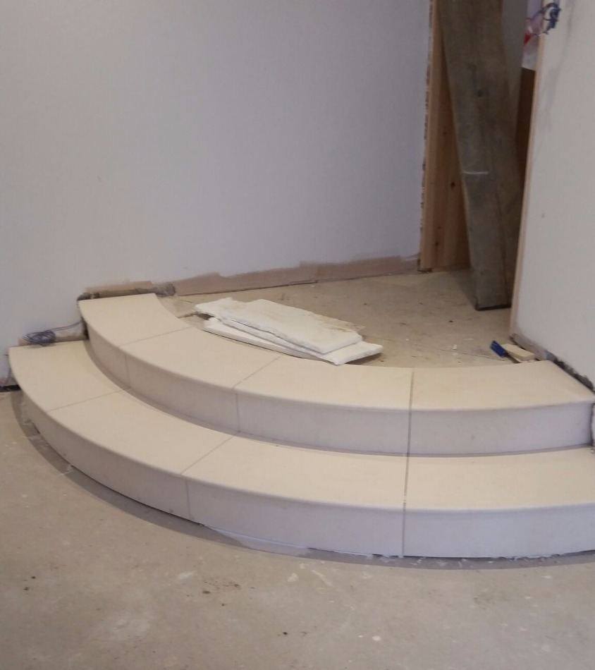 Curved Limestone Steps