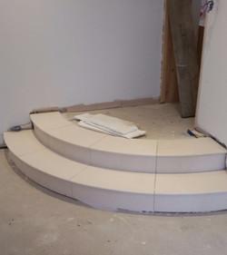 Curved Limestone Steps