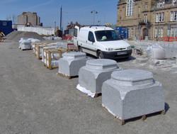 Granite Plinths for the Bollards