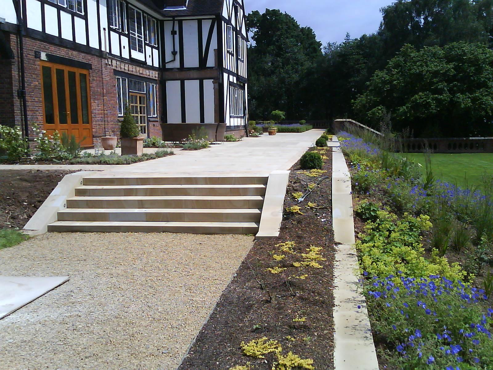 Sandstone Steps, Paving, & Edging