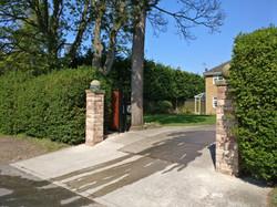 Red Buff Sandstone Gateposts