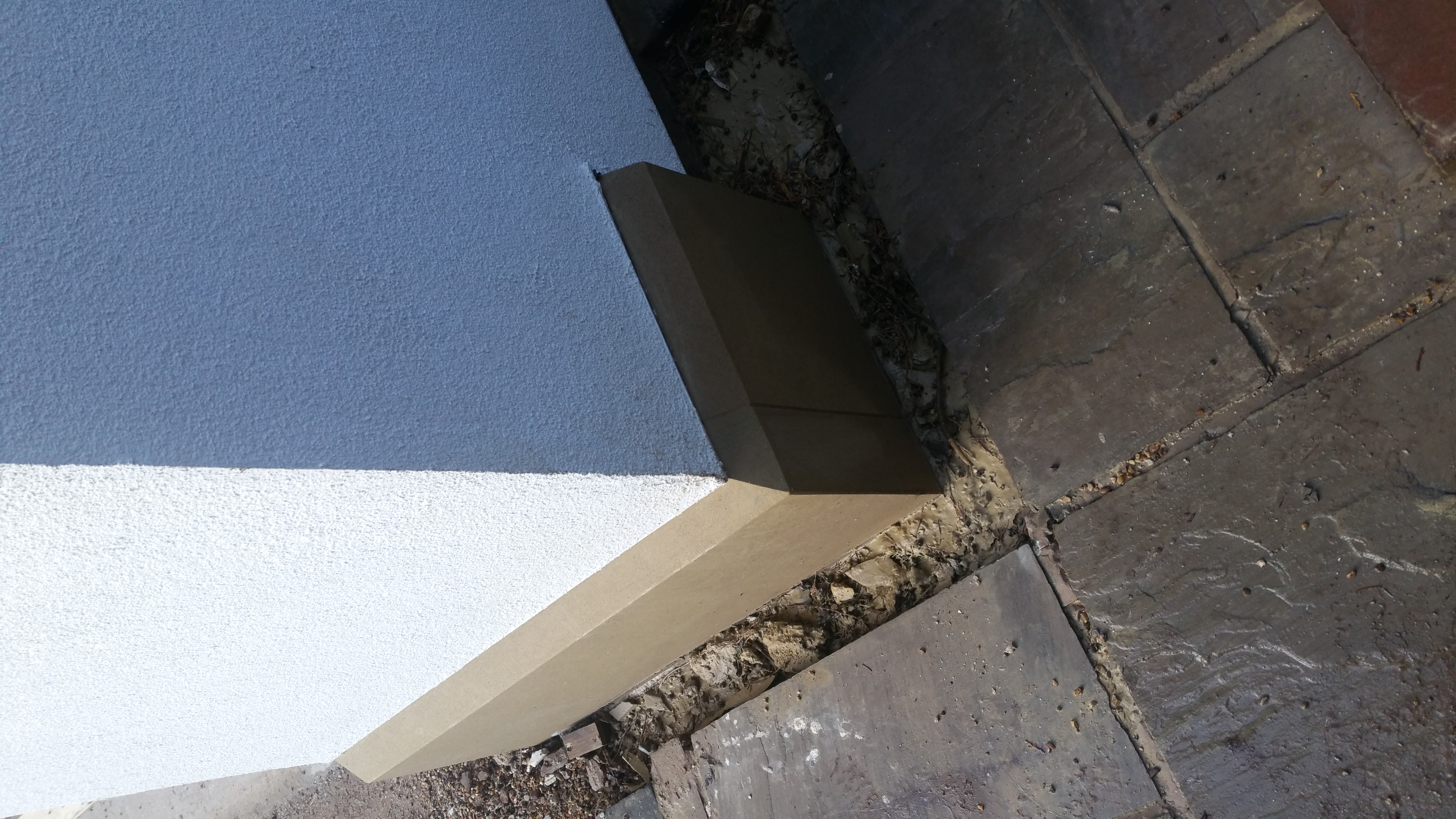 Yorkstone Plinth with Render