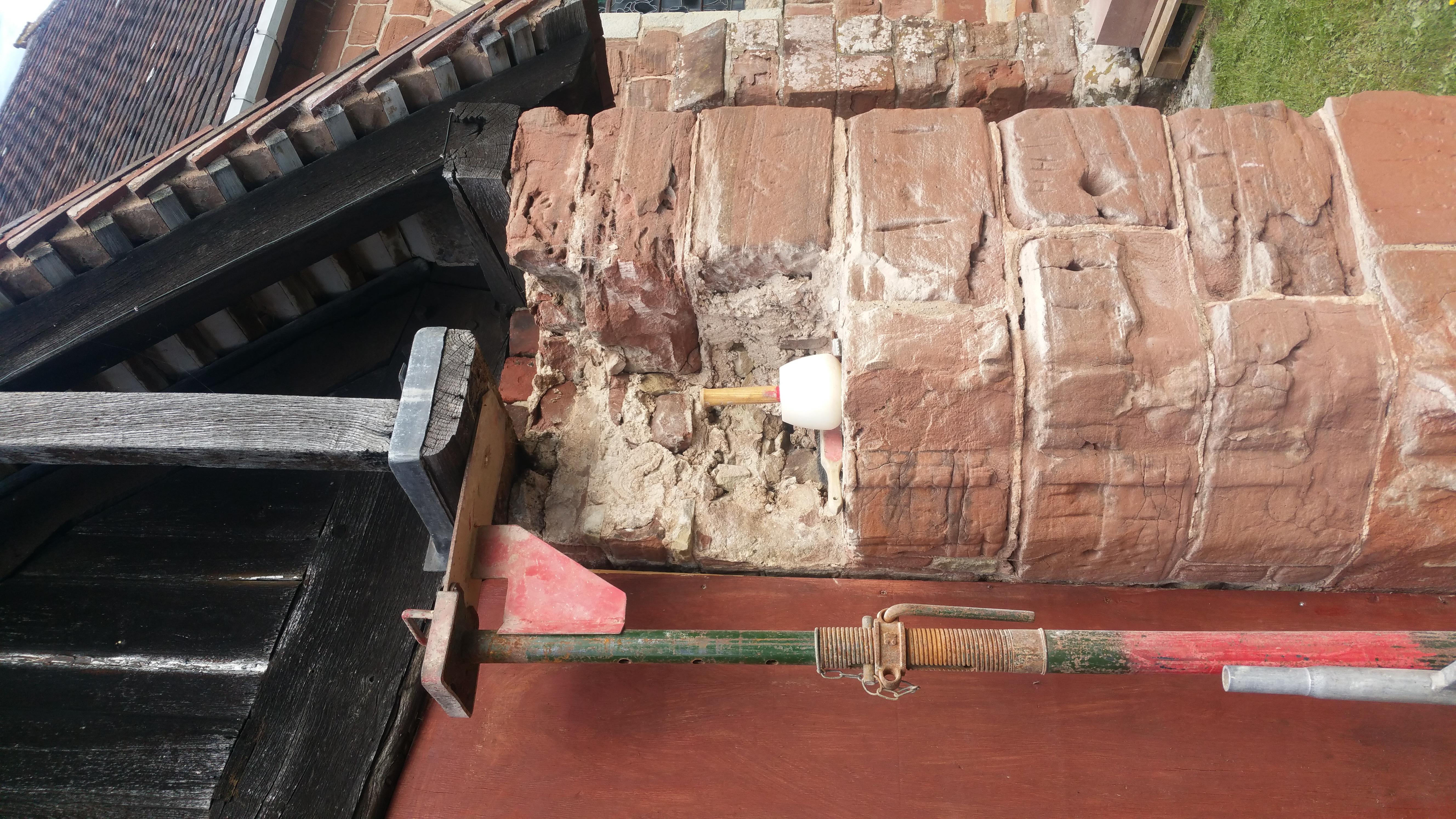 Damaged Section During Restoration