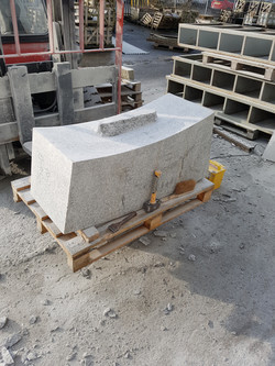 Part Carved Planter Stone