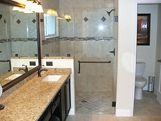 Bathroom Renovation, Tile, Toilets, Fixtures, Glass Shower Doors,  Plaster, Trim