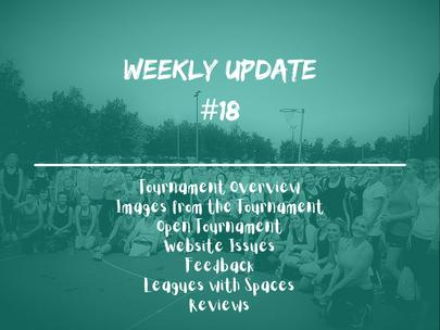 Week 18 - Weekly Update