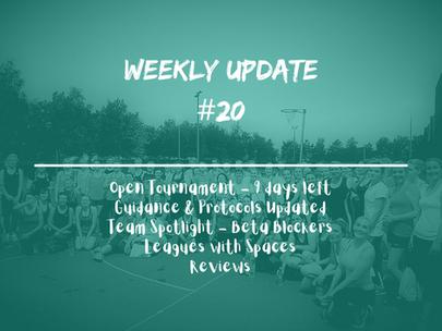 Week 20 - Weekly Update