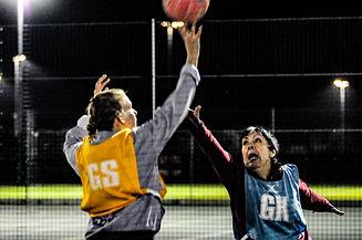 Goal Shooter shooting in netball