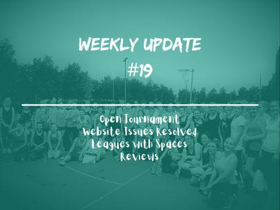Week 19 - Weekly Update