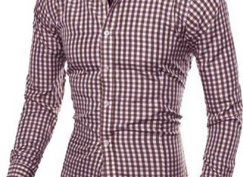 CHECK PATTERN DRESS SHIRTS
