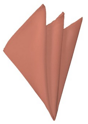 SOLID CORAL POCKET SQUARE