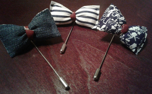 BRITISH GENT BOWTIE LAPEL PIN COLLECTION
