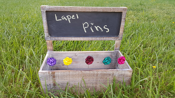 SOLID FLOWER LAPEL PINS