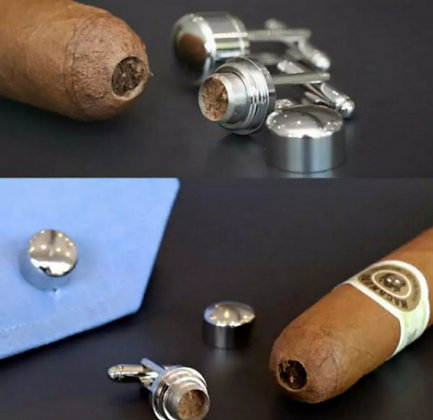 CIGAR PUNCH CUTTER CUFFLINKS